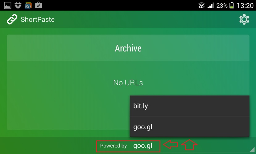 Shortpaste para android