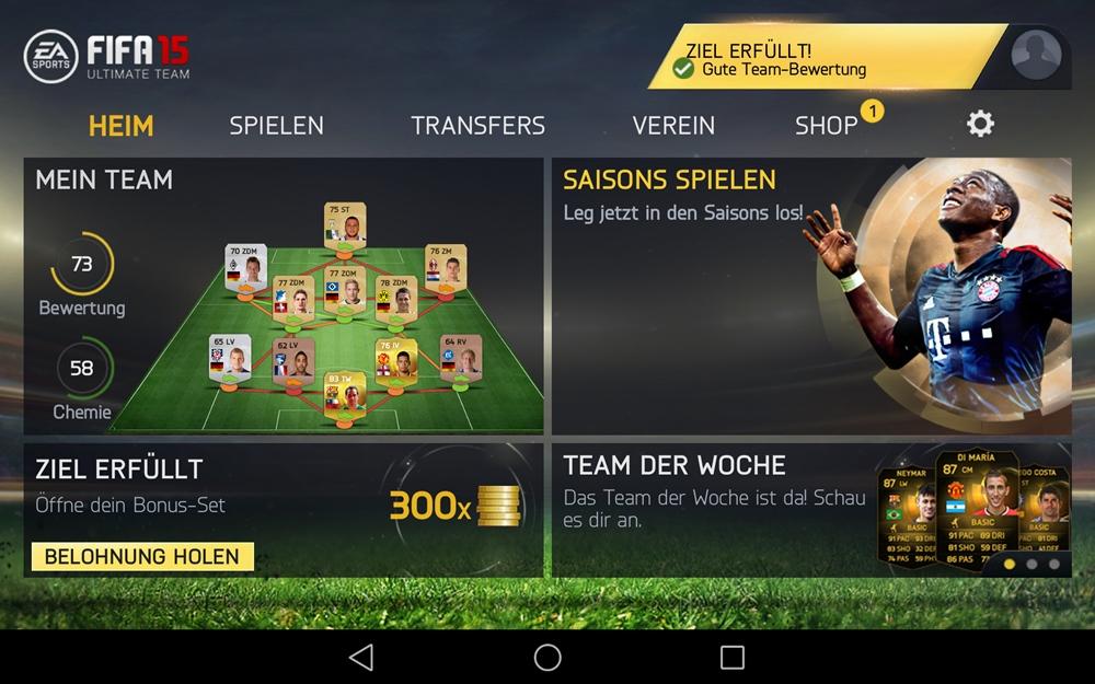 FIFA 15 Ultimate Team descargar
