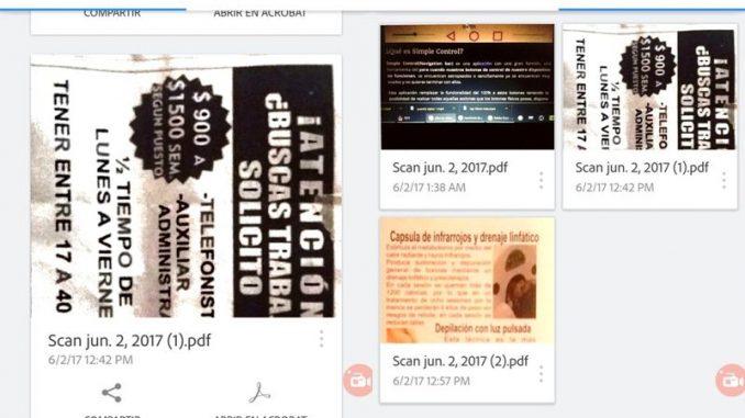 Adobe Scan - Escaneo de documentos en android