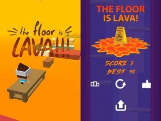 El suelo, piso es lava