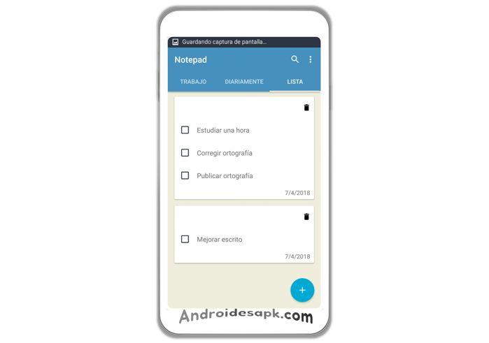 Aplicación Android: Notepad