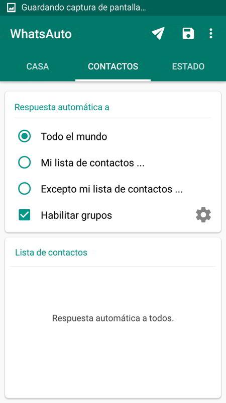 Contactos para lista de contactos