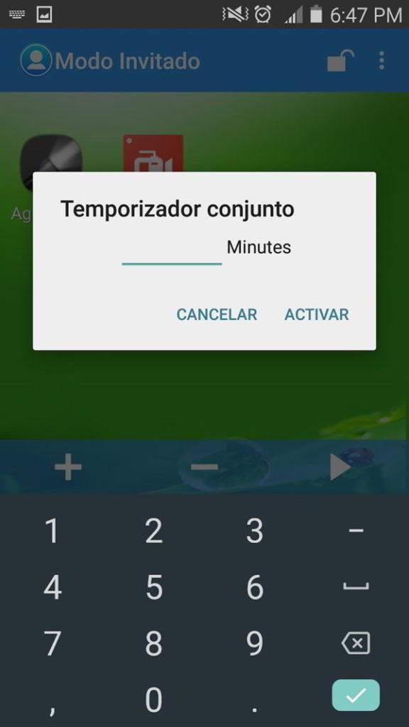 Temporizador Guest Mode