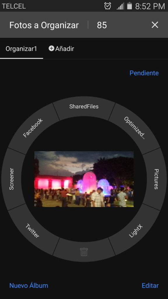Excelente manera de organizar fotos en Android