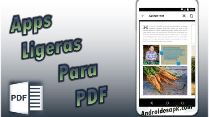 Lectores de pdf livianos